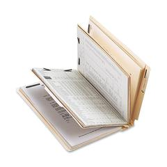 "Sparco End Tab Classification Folder - Letter - 8 1/2"" x 11"" Sheet Size - 2"" Fastener Capacity for Folder - 2 Divider(s) - 18 pt. Folder Thickness - Manila - Recycled - 10 / Box"