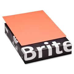 "Mohawk Brite-Hue Colored Paper - Letter - 8.50"" x 11"" - 20 lb Basis Weight - Smooth - 500 / Ream - Ultra Lava"