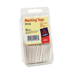 "Avery Tag-Pak Marking Tags - 1.09"" Length x 1.75"" Width - String Fastener - 100 / Pack - White"