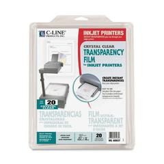 "C-Line Transparency Film - Letter - 8.50"" x 11"" - 20 / Box - Clear"""