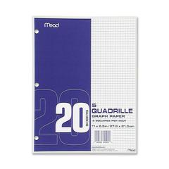 "Mead Graph Paper - Printed - Letter 8.50"" x 11"" - White Paper - 12 / Box"