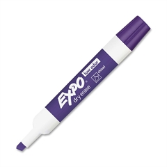 Expo Dry Erase Marker - Chisel Point Style - Purple - 1 Dozen