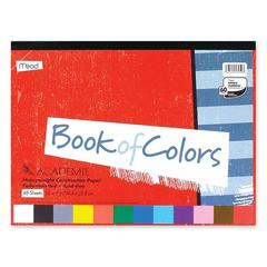 "Mead Academie Book Of Colors - 48 Piece(s) - 9"" x 12"" - 1 Each - Red, White, Orange, Yellow, Blue, Salmon, Pink, Light Blue, Green, Violet, Brown, ... - Paper"