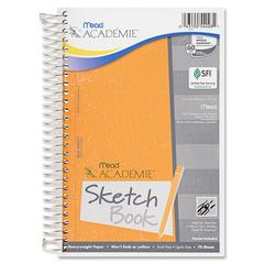 "Academie Sketch Diary - 70 Sheets - Plain - Wire Bound - 6"" x 9"" - White Paper - 1Each"
