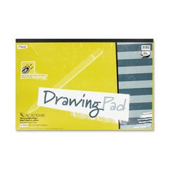 "Mead Academie Drawing Pad - 24 Sheets - Plain - 12"" x 18"" - White Paper - 1Each"