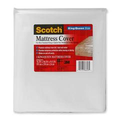 "Scotch King/Queen Mattress Cover - 76"" Length x 94"" Width - 9.50"" Diameter - 1 Each - Clear"