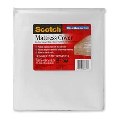 "Scotch King/Queen Mattress Cover - 76"" x 94"" x 9.50"" - 1 Each - Clear"