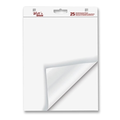 "Globe-Weis Write 'N Stick Easel Pad - 25 Sheets - 20 lb Basis Weight - 20"" x 23"" - White Paper - 6 / Carton"