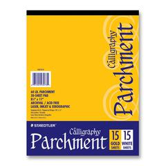 "Parchment Paper - Letter - 8.50"" x 11"" - 60 lb Basis Weight - Parchment - 1 Each - White, Golden"