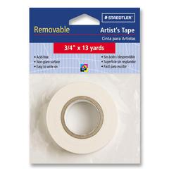 "Staedtler Artist Tape - 0.75"" Width x 39 ft Length - Cotton - Removable, Acid-free, Writable Surface - 1 / Roll - White"