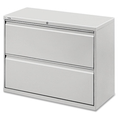 "Lorell Lateral File - 36"" x 18.6"" x 28.1"" - 2 x Drawer(s) for File - Legal, Letter, A4 - Lateral - Rust Proof, Leveling Glide, Interlocking, Ball-bearing Suspension, Label Holder, Hanging Rail - Light"