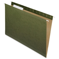 "Nature Saver Hanging File Folder - Legal - 8.50"" x 14"" Sheet Size - 1/3 Tab Cut - Poly - Standard Green - Recycled - 25 / Box"