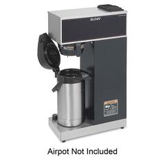 BUNN Pourover Airpot Coffee Brewer System - 1375 W - 3.80 gal - 12 Cup(s) - Black