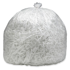 "SKILCRAFT - High Performance Shredder Bag - 60 gal - 51"" x 49"" - 50 / Box - Clear"