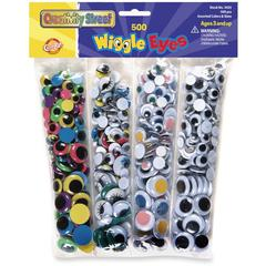 Wiggle Eyes - 500 Piece(s) - 500 / Pack - Assorted