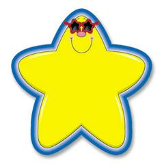 "Carson-Dellosa Star Cutout Shape - 36 Star - 5.25"" Height x 5.25"" Width - Yellow, Blue - 1 Pack"