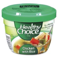 Healthy Choice Soup Cup - Microwavable - Chicken, Rice - 14 oz - 12 / Carton