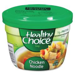 Healthy Choice Soup Cup - Microwavable - Chicken Noodle - 14 oz - 12 / Carton