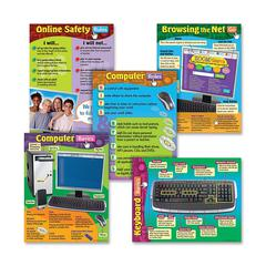 """Computer Skills Learning Chart - Learning - 17"""" Width x 22"""" Height"""