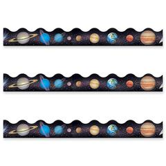 "Trend Solar System Terrific Themed Trimmer - 12 Panel - Reusable, Precut - 2.25"" Width x 468"" Length - 12 / Pack"