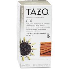 Tazo Organic Tea - Black Tea - Chai, Spice - 24 Teabag - 24 / Box