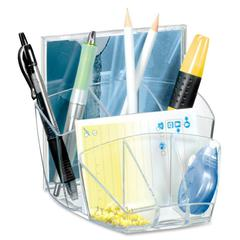 "CEP Ice Transparent Desktop Organizers - 2 x CD - 6 Compartment(s) - 5.6"" Height x 6"" Width x 3.6"" Depth - Crystal - Polystyrene - 1Each"