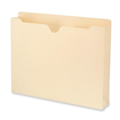 "Smead Reinforced Top Tab Jackets with Antimicrobial Product Protection - Letter - 8 1/2"" x 11"" Sheet Size - 2"" Expansion - 11 pt. Folder Thickness - Manila - Manila - Recycled - 50 / Box"