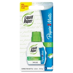 Paper Mate Liquid Paper Fast Dry Correction Fluid - Foam 0.74 fl oz - White - Fast-drying - 1 Each