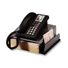 "Rolodex Telephone Stand - 4.9"" Height x 11.6"" Width x 11"" Depth - Wood, Steel - Chrome"