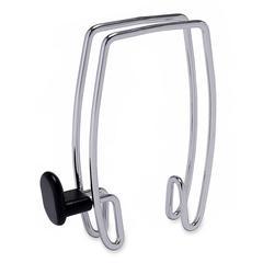 Alba Expandable Over-the-Panel Chrome Garment Clip - 1 Hooks - 20 lb (9.07 kg) Capacity - for Garment - Polypropylene - Black - 1 Each