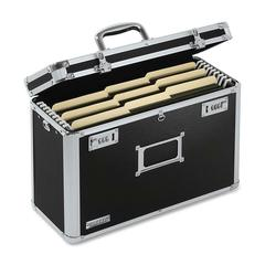 "IdeaStream Locking Legal Tote - External Dimensions: 16.8"" Width x 7.3"" Depth x 12.3""Height - Media Size Supported: Legal - Key Lock Closure - Steel, Aluminum - Chrome - For File - 1 / Each"
