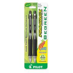 BeGreen Progrex Retract Mechanical Pencils - HB Lead Degree (Hardness) - 0.7 mm Lead Diameter - Refillable - Black Barrel - 2 / Pack