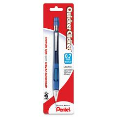 Quicker Clicker Mechanical Pencil - #2, HB Lead Degree (Hardness) - 0.7 mm Lead Diameter - Refillable - Assorted Barrel - 1 / Pack