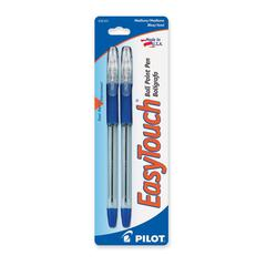 Ballpoint Pen - Medium Point Type - 1 mm Point Size - Refillable - Blue Oil Based Ink - 1 / Pack