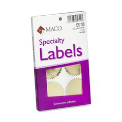 "Maco Notary Gold Foil Seals - Round - 2"" Diameter - Self-adhesive - For Award, Certificate, Legal Document - Gold"