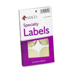 "Maco Notary Gold Foil Seals - Round - 2.25"" Diameter - Self-adhesive - For Award, Certificate, Legal Document - Gold"
