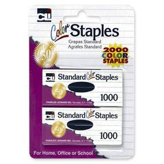 CLI Standard Colored Staple - Standard - Chisel Point - Assorted - 1 / Pack
