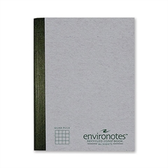 "Roaring Spring Recycled 80 Sheet Composition Book - 80 Sheets - Printed - Sewn 7.50"" x 9.75"" - Mist Gray Cover - Recycled - 1Each"