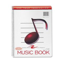 "Roaring Spring Wirebound Music Notebook - 32 Sheets - Printed - Wire Bound - Letter 8.50"" x 11"" - White Paper - 1Each"