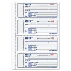 "Rediform Rent Receipt Book - 200 Sheet(s) - 2 Part - Carbonless Copy - 2.75"" x 7"" Form Size - White Sheet(s) - Red Print Color - 1 Each"