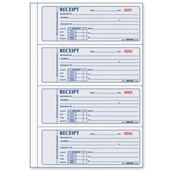 "Rediform 3-pt Carbonless Rent Receipt Book - 100 Sheet(s) - 3 Part - Carbonless Copy - 2.75"" x 7"" Form Size - White Sheet(s) - Red Print Color - 1 Each"