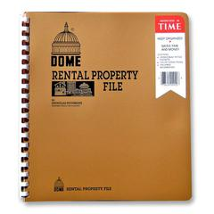 "Dome Rental Property File - 11"" x 9.75"" Sheet Size - Copper Cover - 1 Each"