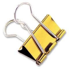 "Baumgartens Metallic Colored Binder Clip - Large - 1.3"" Width - 100 Sheet Capacity - 4 Pack - Assorted - Metal"