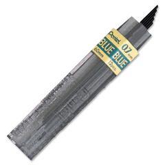 Pentel Color Lead Mechanical Pencil Refills - 0.7 mm Point - Blue - 12 / Tub