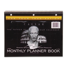 "Monthly Planner - 1 Month Single Page Layout - 11"" x 8.50"" - Wire Bound - Black"