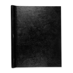 "Roaring Spring Thesis Binders - 2"" Binder Capacity - Letter - 8 1/2"" x 11"" Sheet Size - Leatherette - Black - 1 Each"