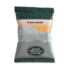 Green Mountain Coffee French Vanilla Coffee - Regular - French Vanilla - 2.2 oz - 50 / Carton