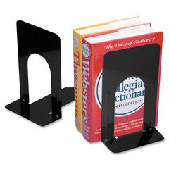 "CLI 9"" Nonskid Bookends - Desktop - Black - Steel - 2 / Pair"