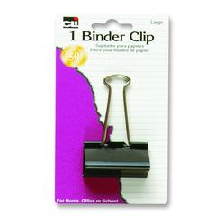 "CLI Binder Clips - Large - 2"" Width - 1 / Pack - Black - Steel"