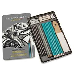 Prismacolor Premier Graphite Set - 8B, 6B, 4B, 2B, B, HB, 2H, 4H, 6H Pencil Grade - Graphite Lead - Turquoise Barrel - 18 / Pack